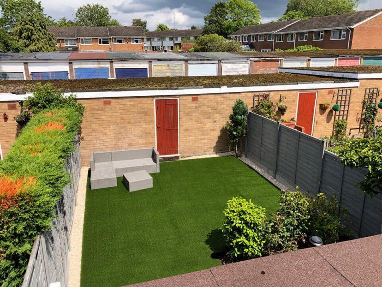 artificial grass garden solihull