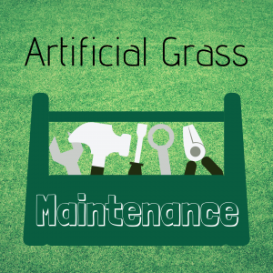 What is needed for artificial grass maintenance?